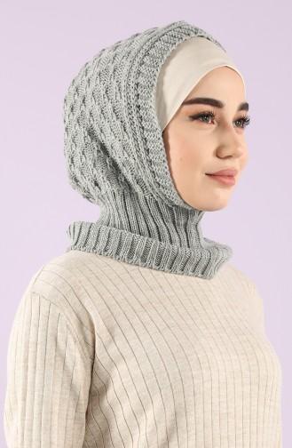Grau Kopftuch 12021-03