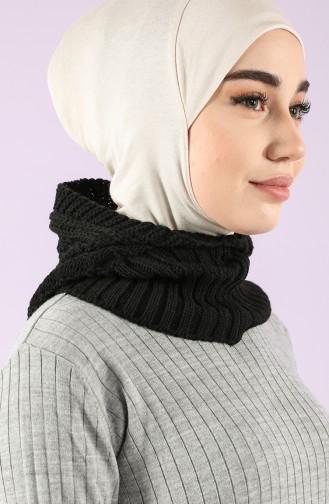 Triko Örme Pratik Eşarp 4291-05 Siyah 4291-05