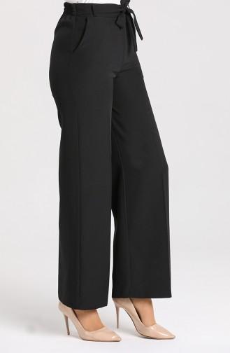 Kuşaklı Klasik Pantolon 2011-01 Siyah