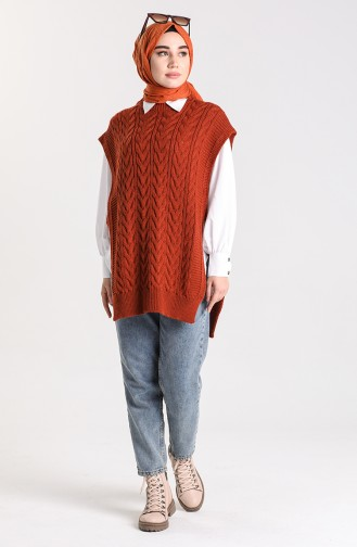 Ziegelrot Pullover 4274-05