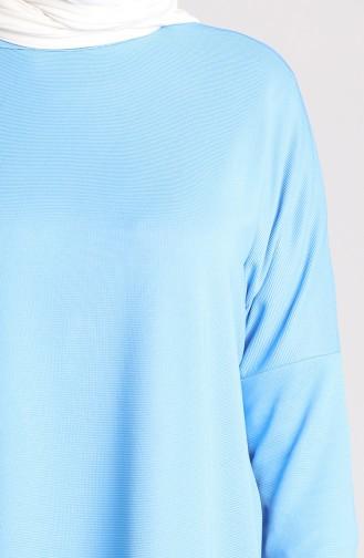 Düz Mevsimlik Tunik 8209-01 Mavi