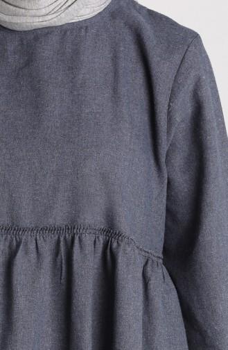 Kolu Lastikli Kışlık Tunik 21K8203-06 Lacivert