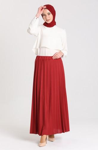تنورة أحمر كلاريت 1030A-01