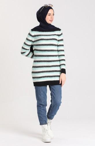 Knitwear Garnish Soft Sweater 1087-04 Mint Green 1087-04