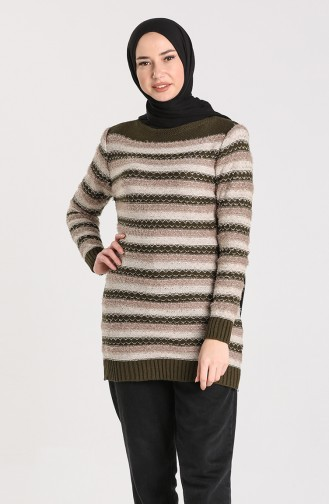Knitwear Garnish Soft Sweater 1087-06 Khaki 1087-06