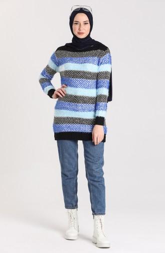 Saks-Blau Pullover 1088-01