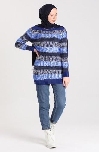 Knitwear Silvery Soft Sweater 1088-02 Saxe Blue Navy Blue 1088-02
