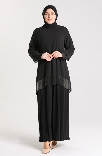Habillé Hijab Noir 9300-02