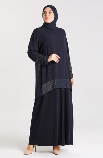 Habillé Hijab Bleu Marine 9300-05