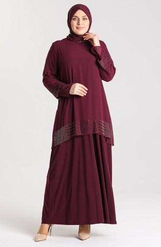 Habillé Hijab Plum 9300-06
