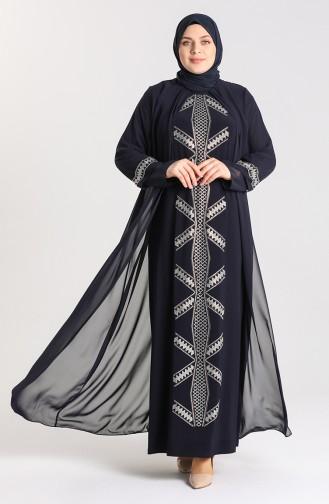 Habillé Hijab Bleu Marine 9316-06