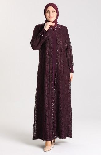 Habillé Hijab Pourpre 9355-03