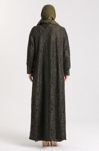 فساتين سهرة بتصميم اسلامي أصفر خردل 9355-04