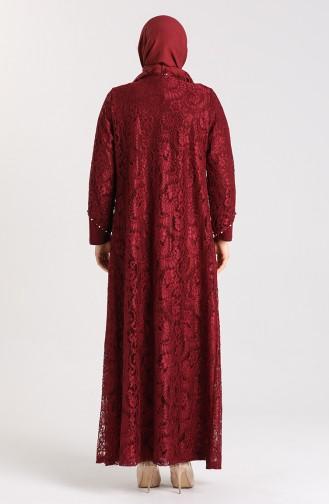 Habillé Hijab Bordeaux 9355-05