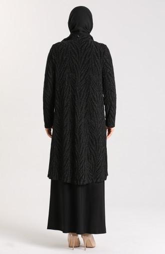 Habillé Hijab Noir 9377-04
