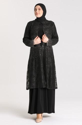 Habillé Hijab Noir 9392-01