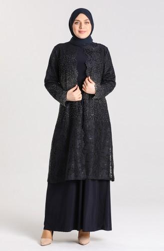 Habillé Hijab Bleu Marine 9392-02