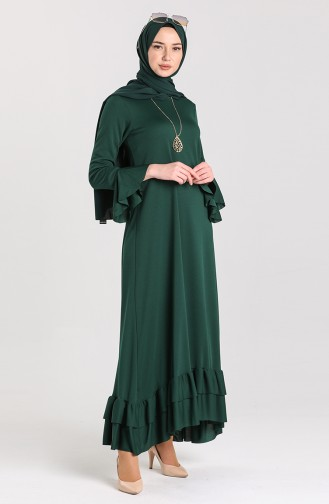Smaragdgrün Hijab-Abendkleider 5082-02