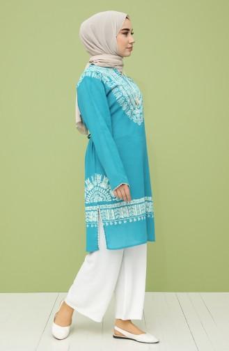Turquoise Tuniek 0055-06
