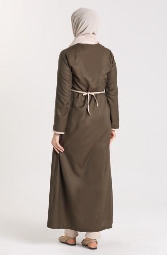 Side Tied Prayer Dress 0616-04 Dark Khaki 0616-04