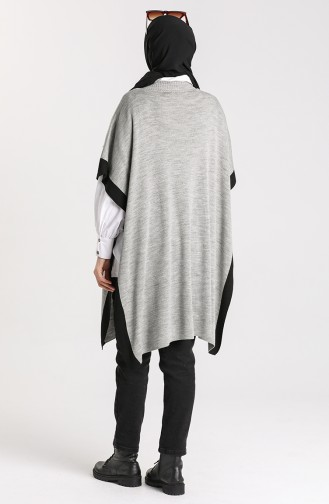 Gray Poncho 0142-10