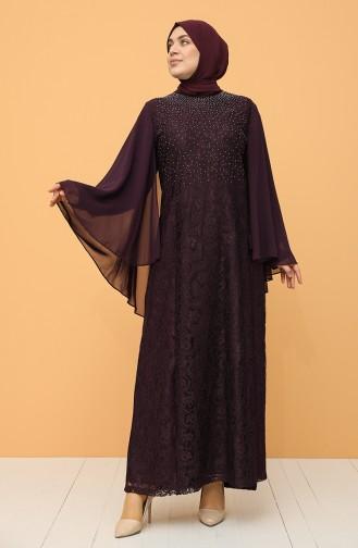 Habillé Hijab Pourpre 9361-03