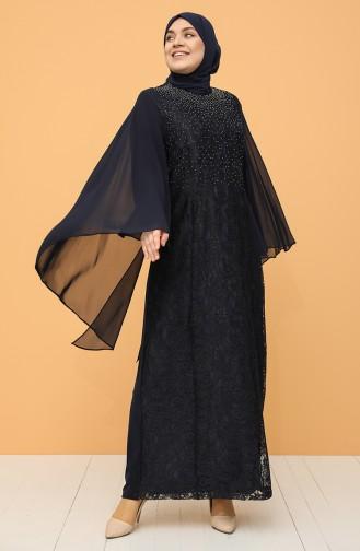 Habillé Hijab Bleu Marine 9361-07