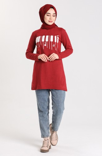 Dark Claret Red Tuniek 3047-17