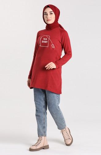 Dark Claret Red Tuniek 3048-17