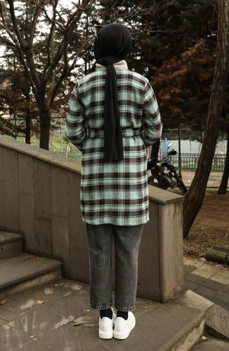 معطف طويل أخضر 21K8117K-01