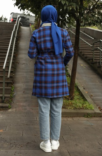 معطف طويل أزرق 21K8117L-01