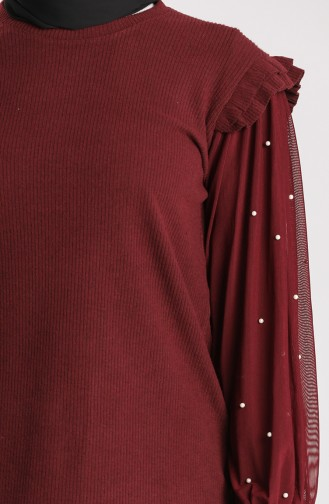 Claret red Blouse 20622-01