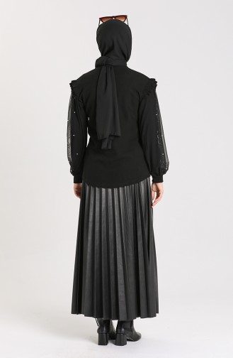 Black Blouse 20622-03
