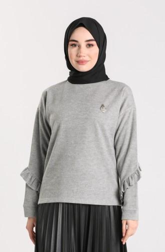 Gray Blouse 20624-03