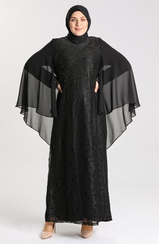 Habillé Hijab Noir 9361-01