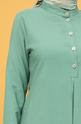 A Pleat Tunic 5002-01 Green 5002-01
