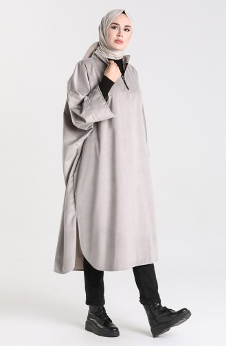 Gray Poncho 9036-02