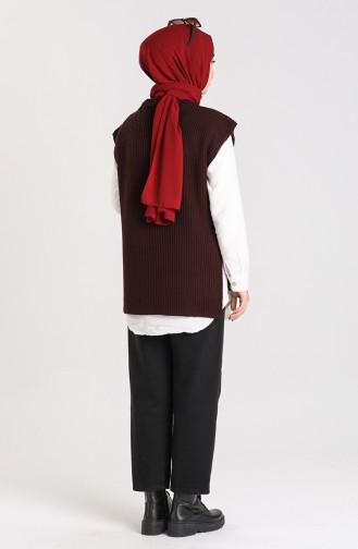 Knitwear Asymmetric Sweater 0608-01 Brown 0608-01