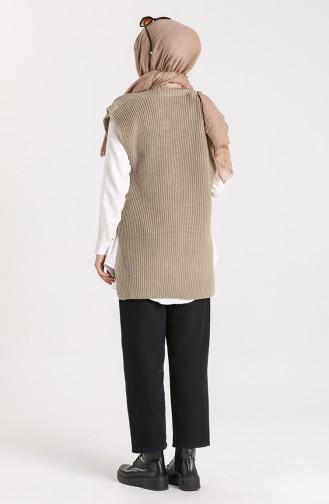 Knitwear Asymmetric Sweater 0608-03 Light Green 0608-03