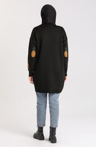 Knitwear Patterned Tunic 4273-01 Black 4273-01