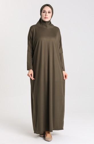 Hooded Prayer Dress 0620-03 Khaki 0620-03