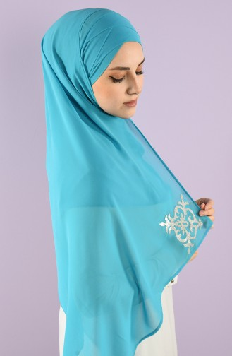 Turquoise Sjaal 0016-13