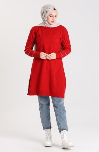 Knitwear Tunic 55366-01 Red 55366-01
