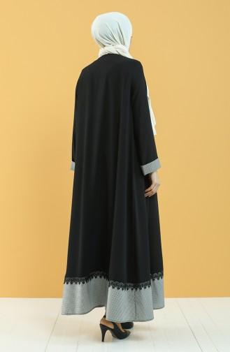 Black Abaya 8034-01