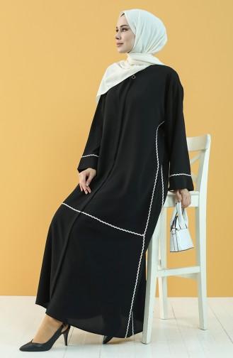 Black Abaya 8035-01