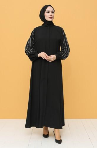 Black Abaya 8036-01