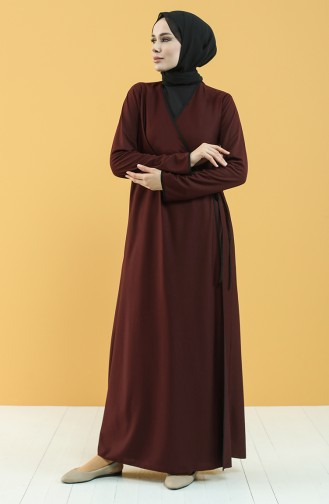 Claret red Praying Dress 4565-02