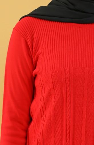 Knitwear Tunic 55015-08 Red 55015-08