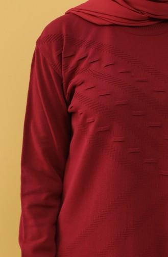 Knitwear Tunic 55223-03 Burgundy 55223-03