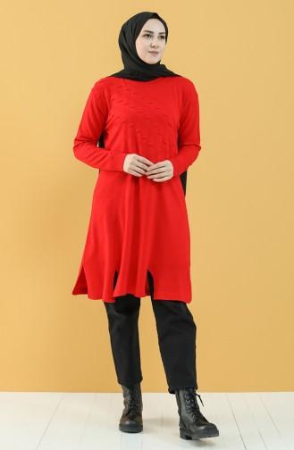 Knitwear Tunic 55223-06 Red 55223-06